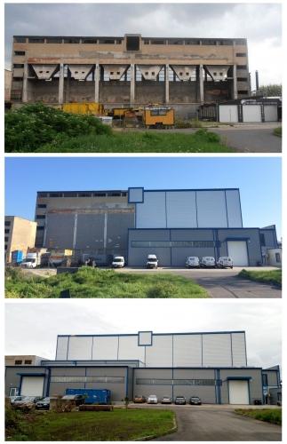 Ukážka postupu rekonštrukcie areálu teplárne v Prievidzi.