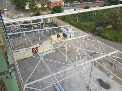 Prístavba skladovej haly k budove bývalej teplárne v Prievidzi.